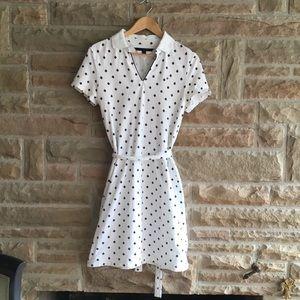 Tommy Hilfiger T-Shirt Dress Belted White & Blue M